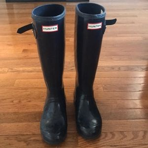 Used Navy Hunter Boots